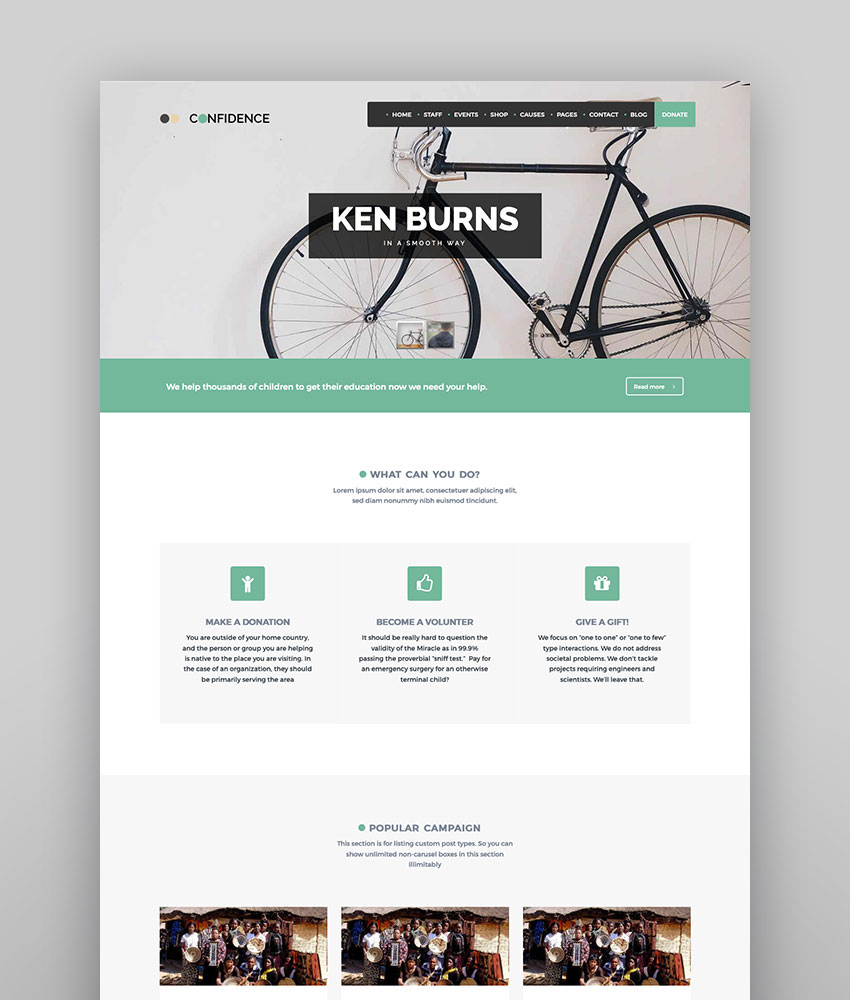Confidence - Multipurpose WordPress NonProfit Charity Theme