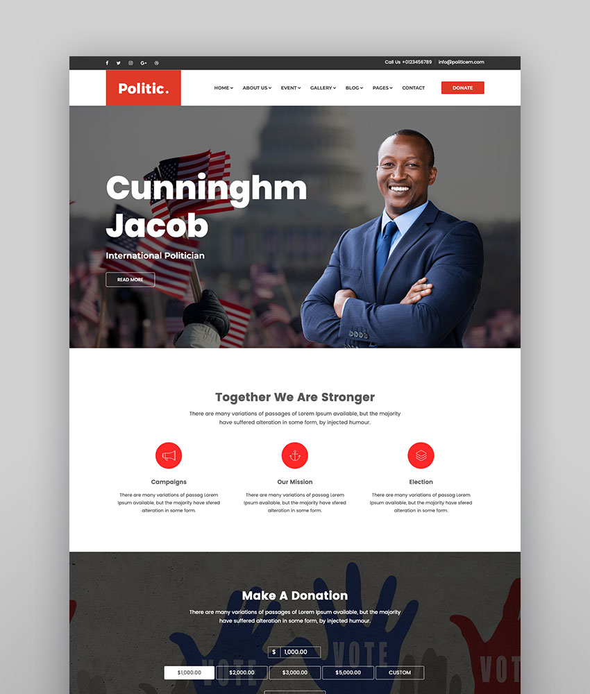 Politic  Political WordPress Theme