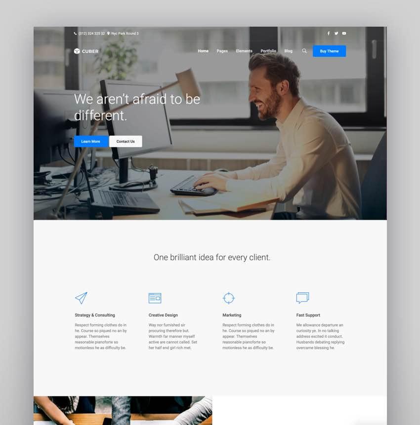 Cuber  Responsive Multipurpose WordPress Theme